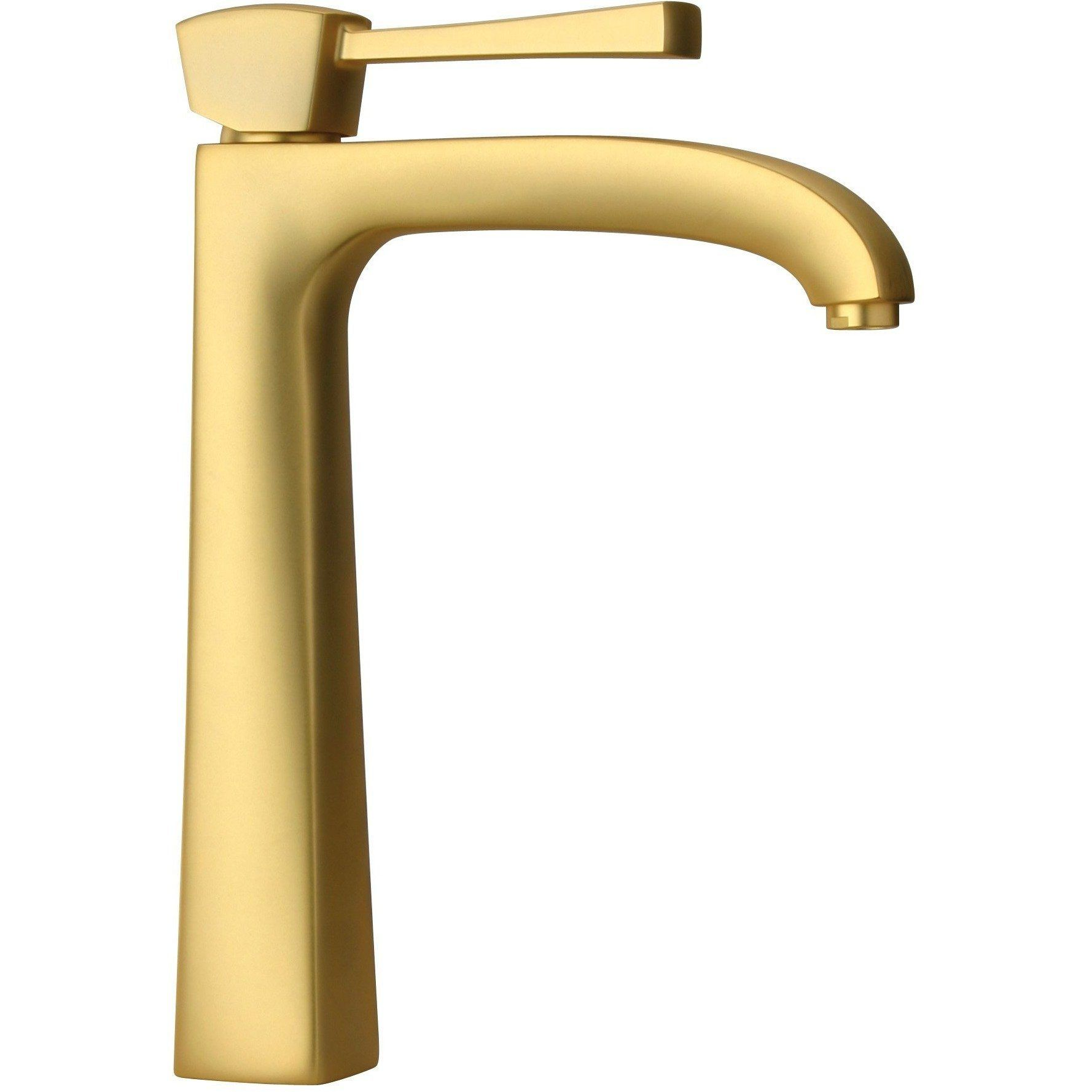 Lade Single Lever Handle Bathroom Vessel Filler Tall Faucet 1 2