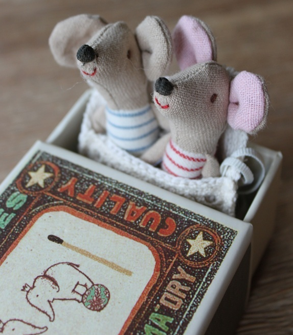Maileg Mouse Twins in a Matchbox!