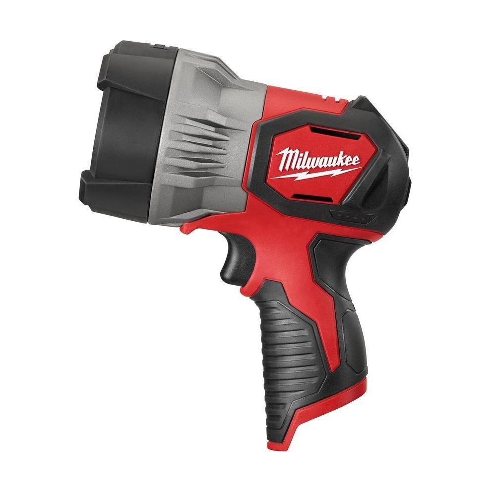 Milwaukee M12 12 Volt Lithium Ion Cordless 750 Lumen Trueview Led Spotlight Tool Only 2353 20 Led Spot Led Spotlight Milwaukee Tools