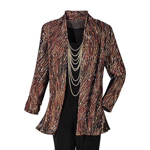 Fashion Bug Womens Plus Size Topaz Wisp Textured Knit Jacket #bbw www.fashionbug.us #PlusSize #Jackets