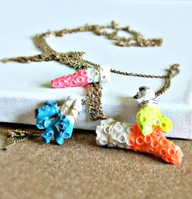 Quiet Lion Creations: Anthropologie's Dipped Sessile Necklace knockoff