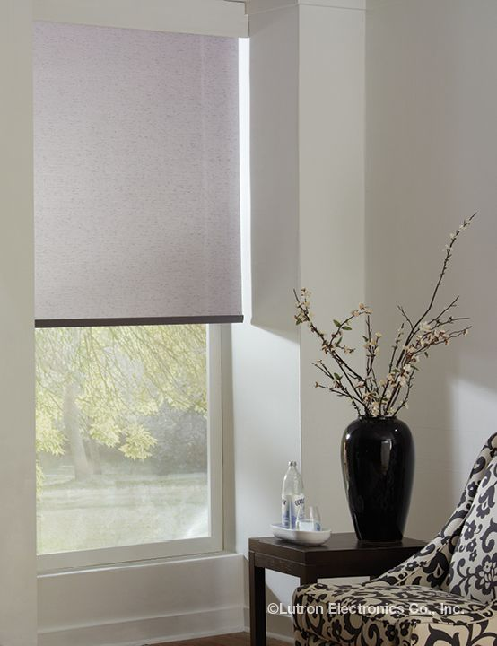 Lutron roller shades are tailored to your window - Interior design materials and specifications ...