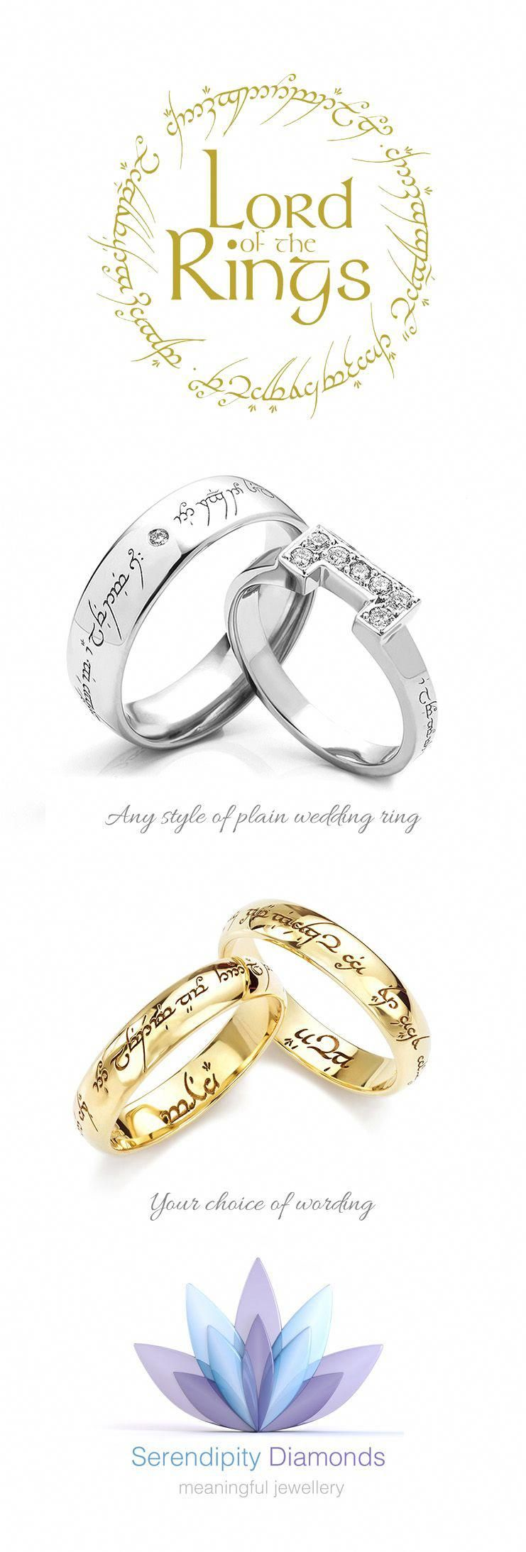 Lord Of The Rings Wedding Add An Elvish Engraving To Your