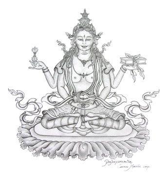 Prajnaparamita | Female Wisdom Buddha | Drawings, Outline ...