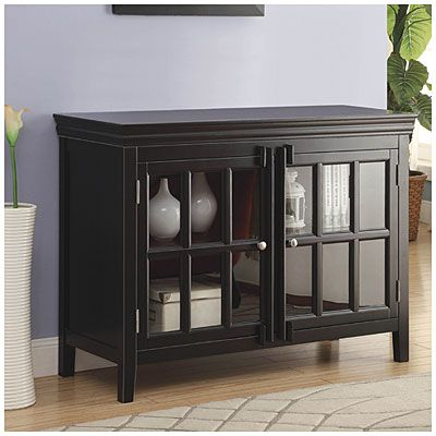 Best Accent Chest With Doors Black Finish At Big Lots Biglots 400 x 300