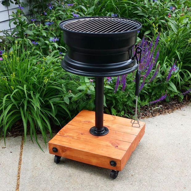 Tire Rim Grill No Welding Fabriquer Barbecue Grill Diy Jantes De Voiture