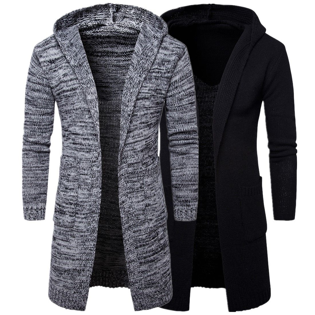 Men's Classic Knitted Hooded Cardigan | Mens cardigan