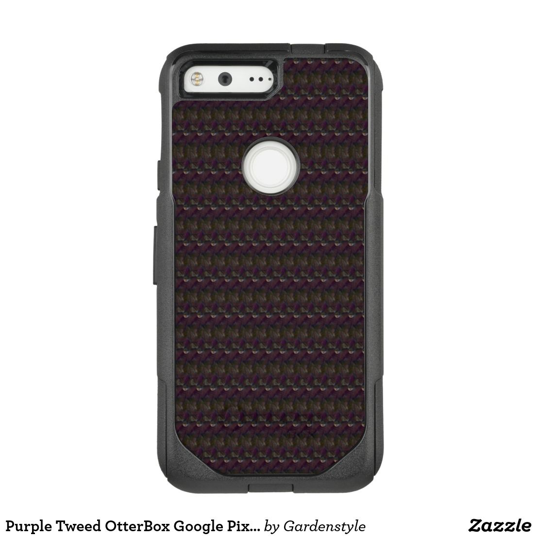 Purple tweed otterbox google pixel case black zazzle