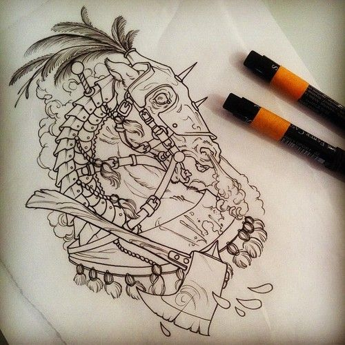 Carousel Style Steed Of The Headless Horseman Mike Moses Www Thedrowntown Com Horse Tattoo Sketch Tattoo Design Tattoo Flash Art