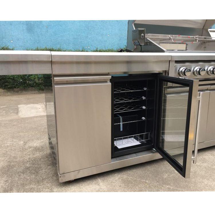 Outdoor Kitchen With Wine Fridge Outdoor Kitchen Design Glass Door Refrigerator