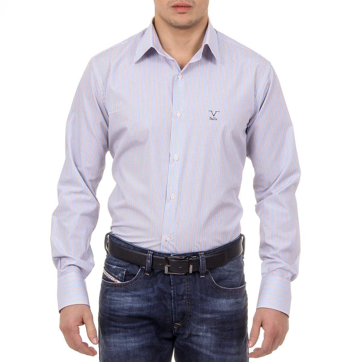 Versace 19.69 Abbigliamento Sportivo Srl Milano Italia Mens Classic Neck Shirt 377 ART. 522