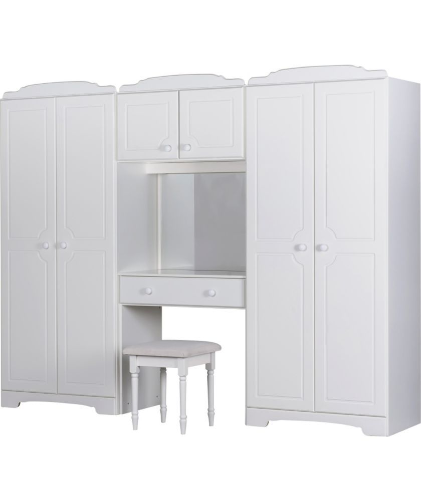 buy nordic wardrobe fitment and stool - white at argos.co.uk