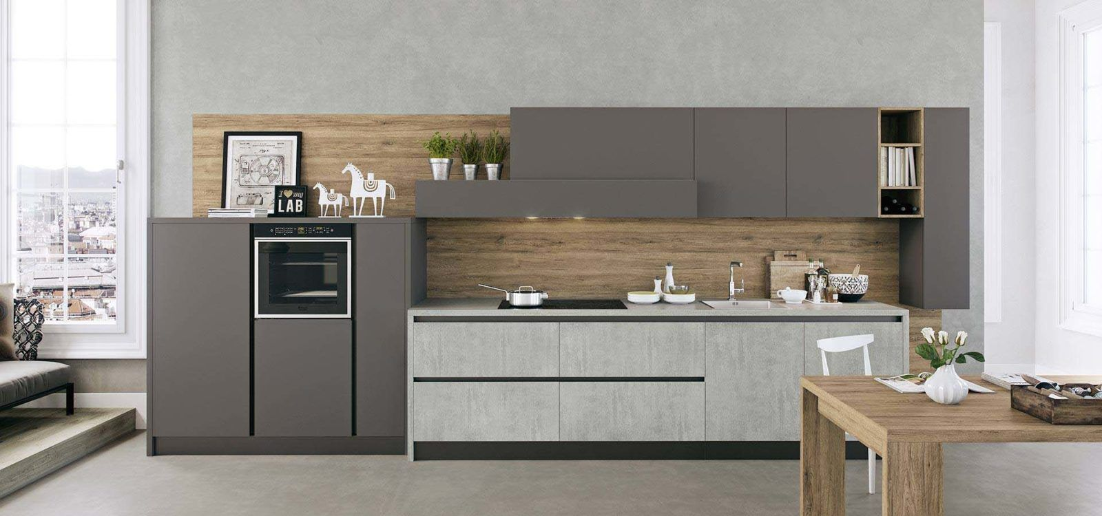 Cucina Moderna Lineare-2 | Living in the Kitchen ...