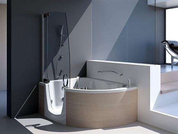 383 Bathtub And Shower Combination By Lenci Design Corner Tub