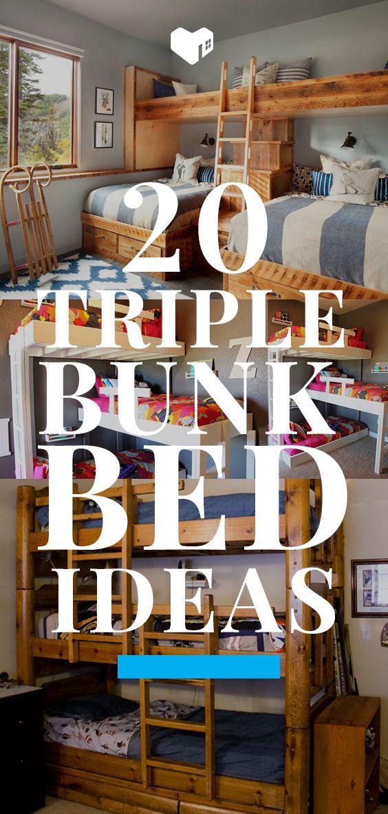 20 Triple Bunk Bed Ideas