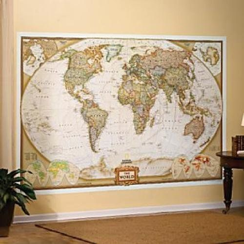 Mural world map map type executive national geographic maps http amazon mural world map map type executive wall murals office products national geographicworld gumiabroncs Image collections