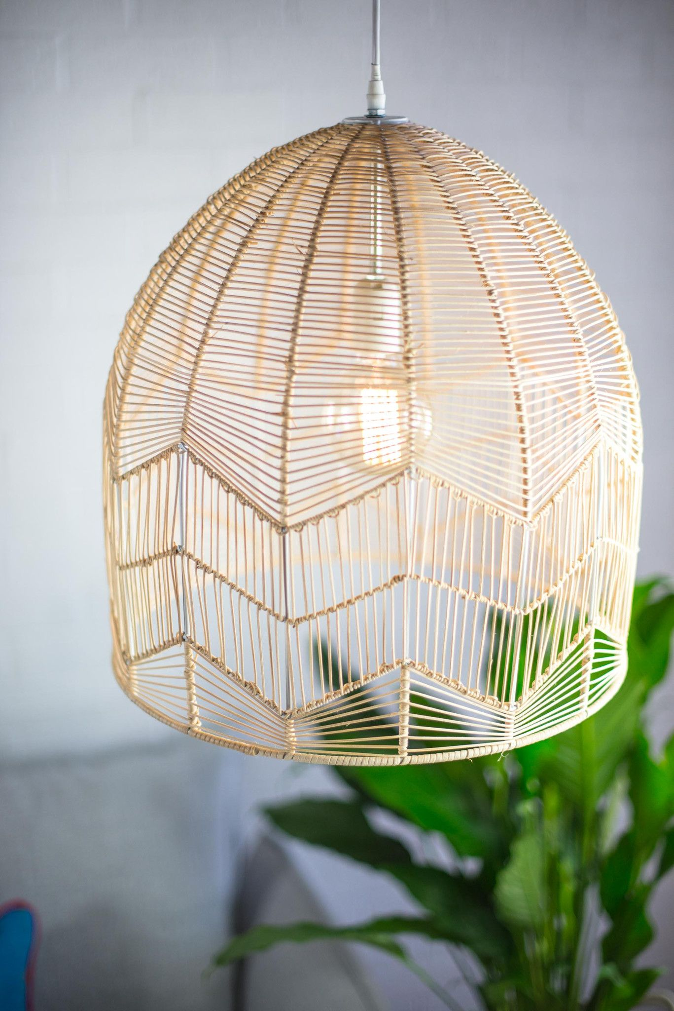 Schlafzimmer Lampe Natur Rattan Lampe