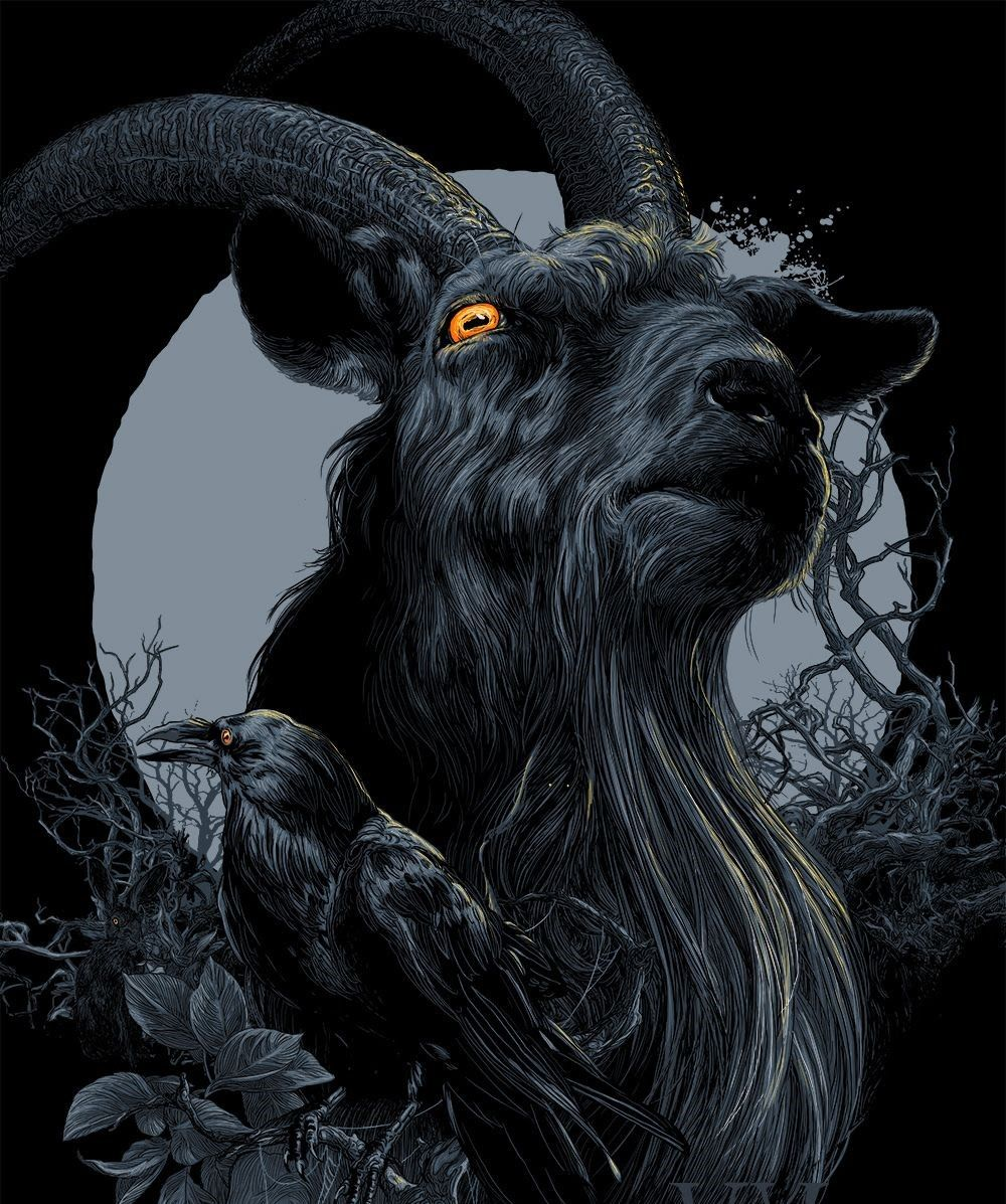 The Witch Anya Taylor Joy Ralph Ineson Kate Dickie The Witch Poster Black Phillip Movie Art