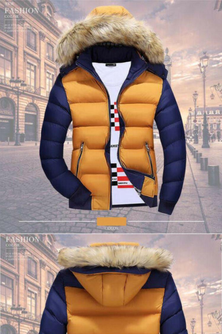 Fashion Mens Winter Hooded Thick Padded Jacket Zipper Slim Outwear Coat Warm Ebay Men S Coats Jackets Mens Winter Fashion Nice Mens Coats [ 1125 x 750 Pixel ]
