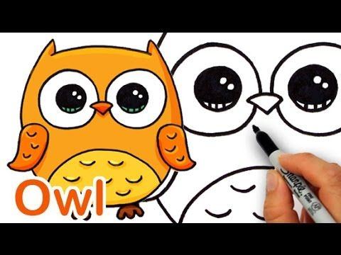 How To Draw A Cute Owl Easy Cute Owl Drawing Owls Drawing Cute Drawings