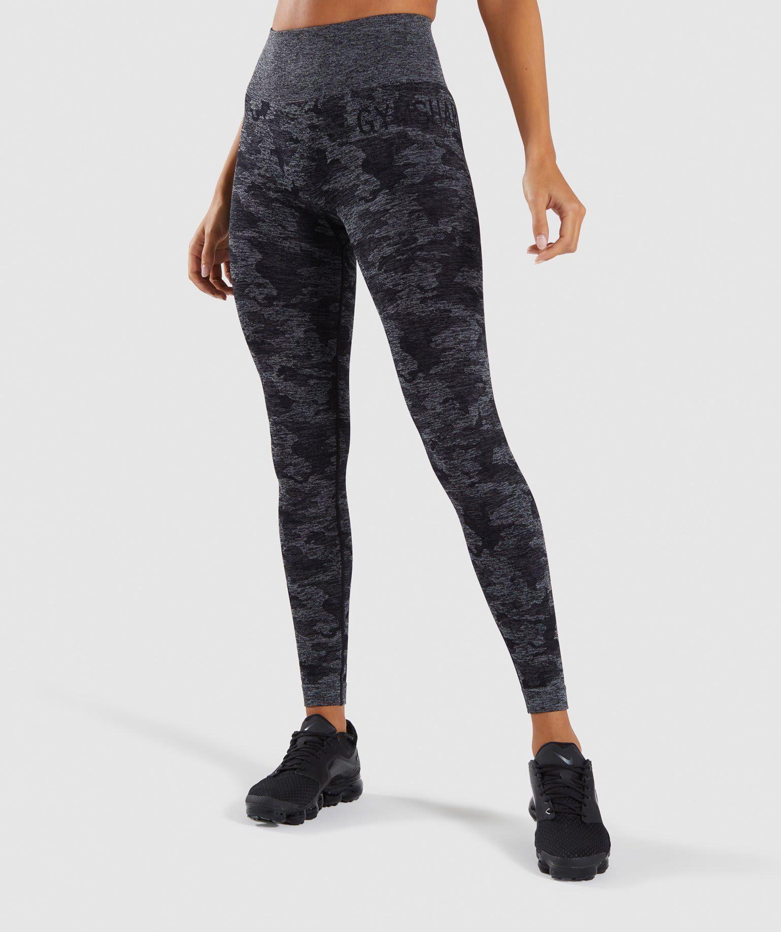 Gymshark Adapt Camo Seamless Leggings - Black