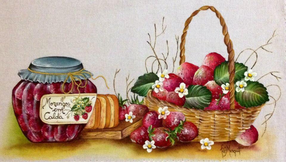 Geléia de Morango - Pintura em Tecido
