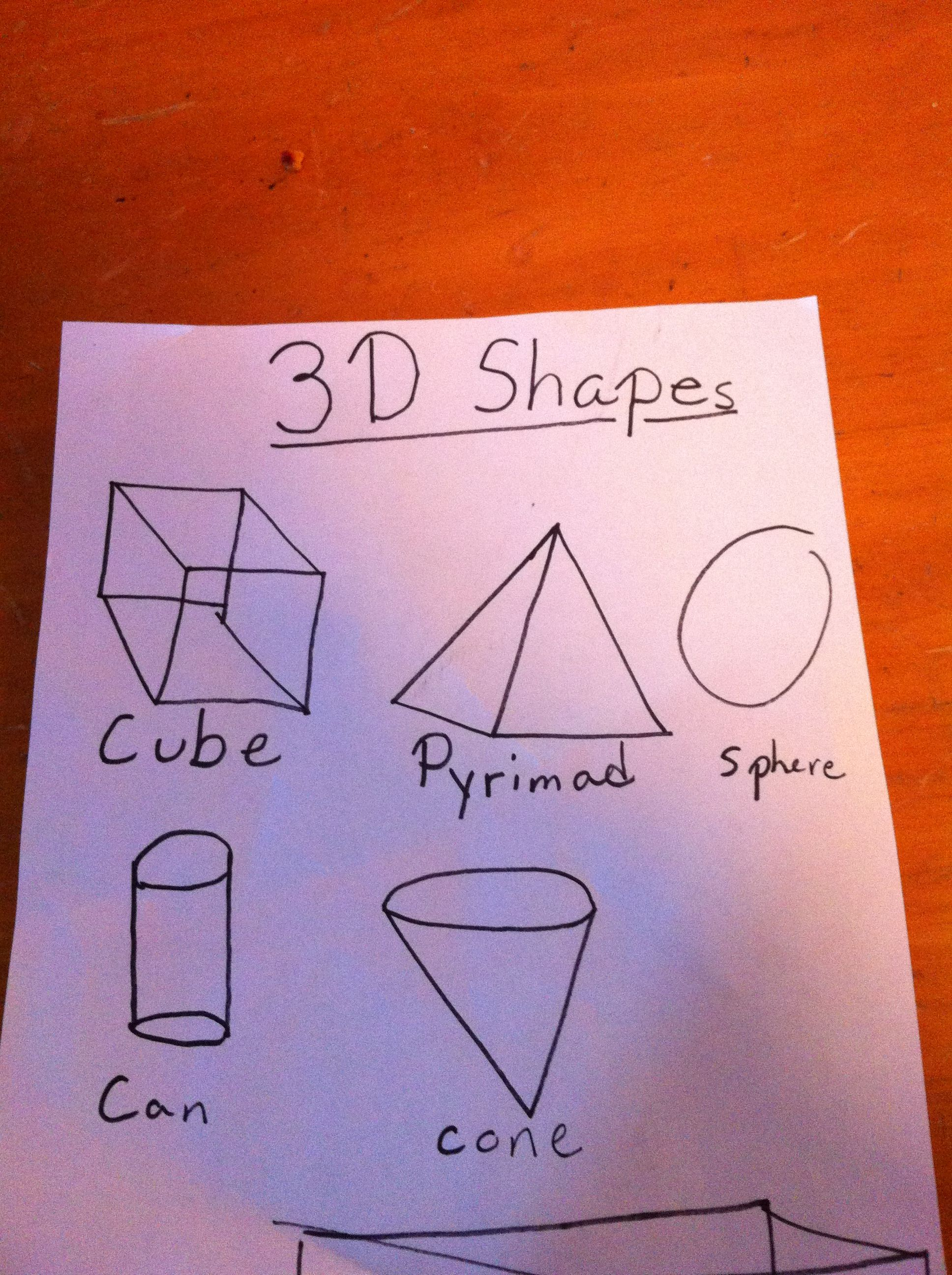 Great Way To Teach Kids About 3d Shapes