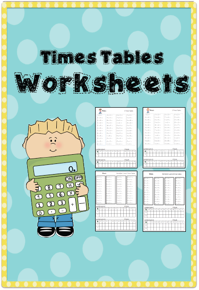 Times tables Worksheets --- Times tables Worksheets is a set of ...
