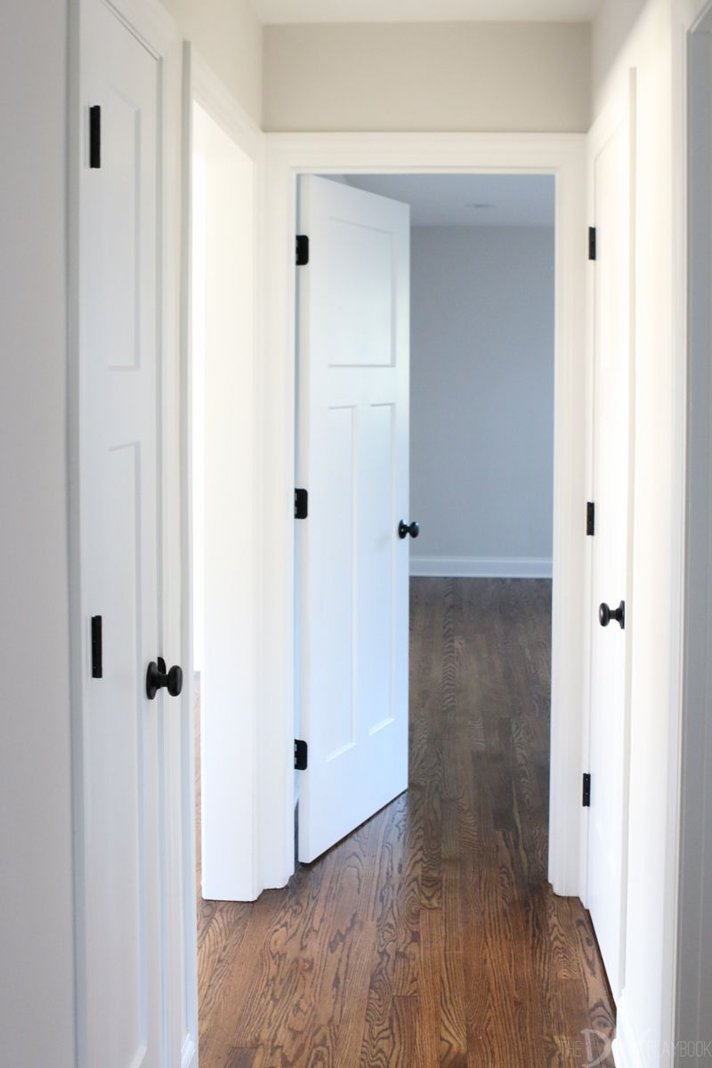 Update your doors white craftsman style diy home - Interior door handles and hinges ...