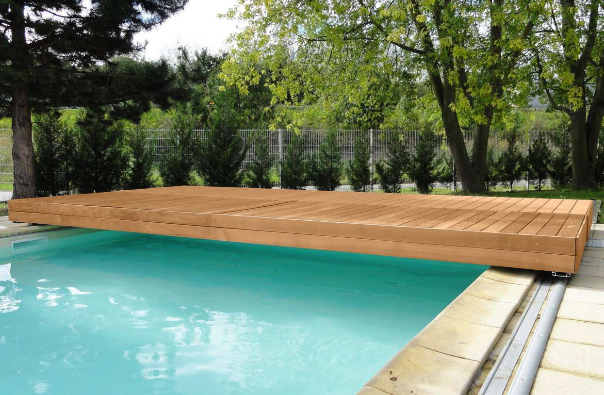 Amüsant Eingebauter Pool Dekoration Von Security Sliding Deck Cover Walter Piscine