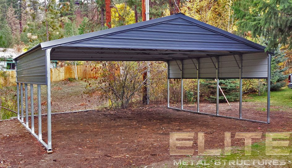 20'Wx26'Lx8'H Vertical Roof Steel Carport in 2019 Metal
