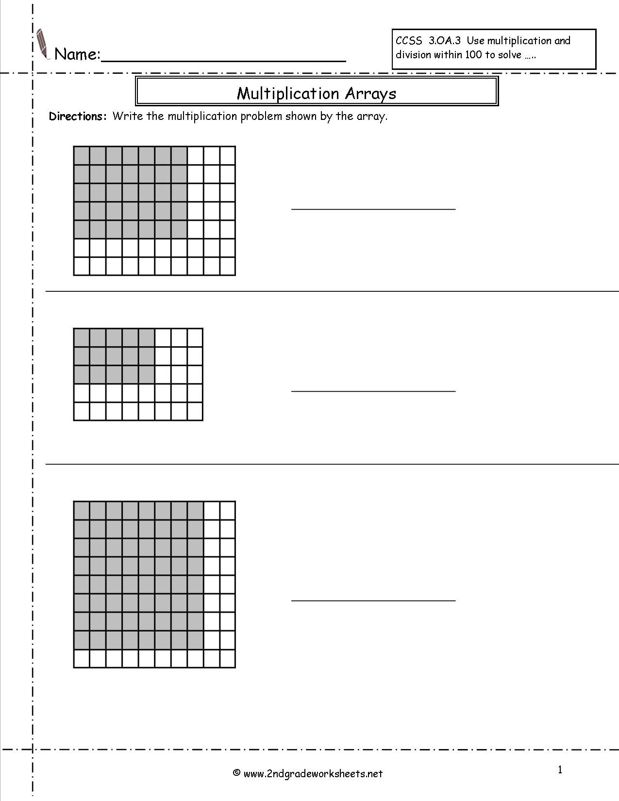 Free Array Worksheets Pictures 2nd Grade Free Preschool Worksheet Kd Worksheet Array Worksheets Multiplication Arrays Free Printable Math Worksheets