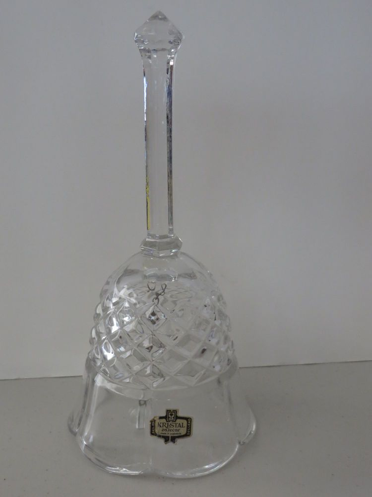 Vintage Kristal Hand Cut Lead Crystal Bell Made in Yugoslavia 7""