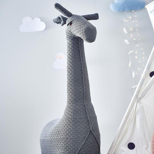 Hocker Giraffe 75x35x128cm Dunkelgrauhocker Giraffe 75x35x128cm