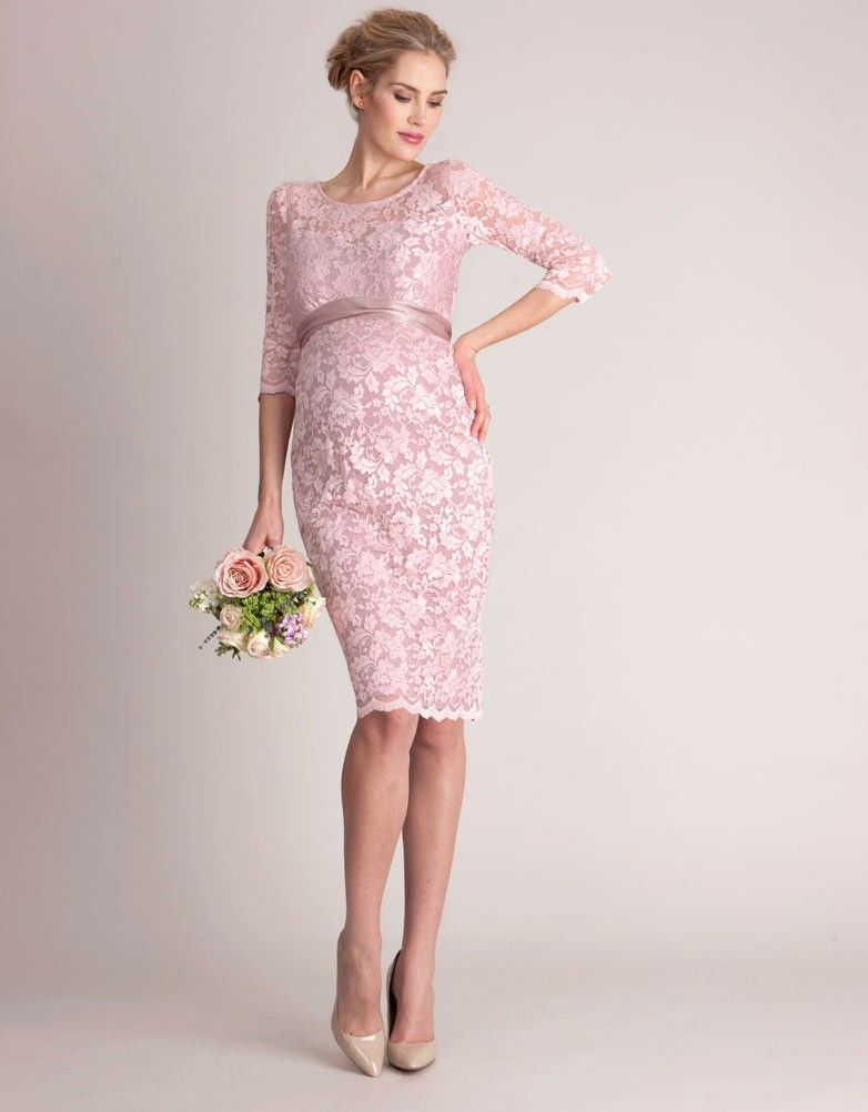 b0571fb961 Blush Lace Maternity Cocktail Dress in 2019
