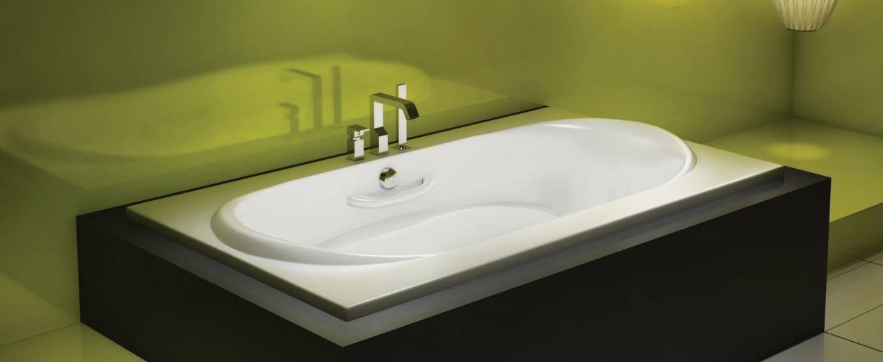 Bainultra Amma® 7236 alcove drop-in air jet bathtub for two   house ...