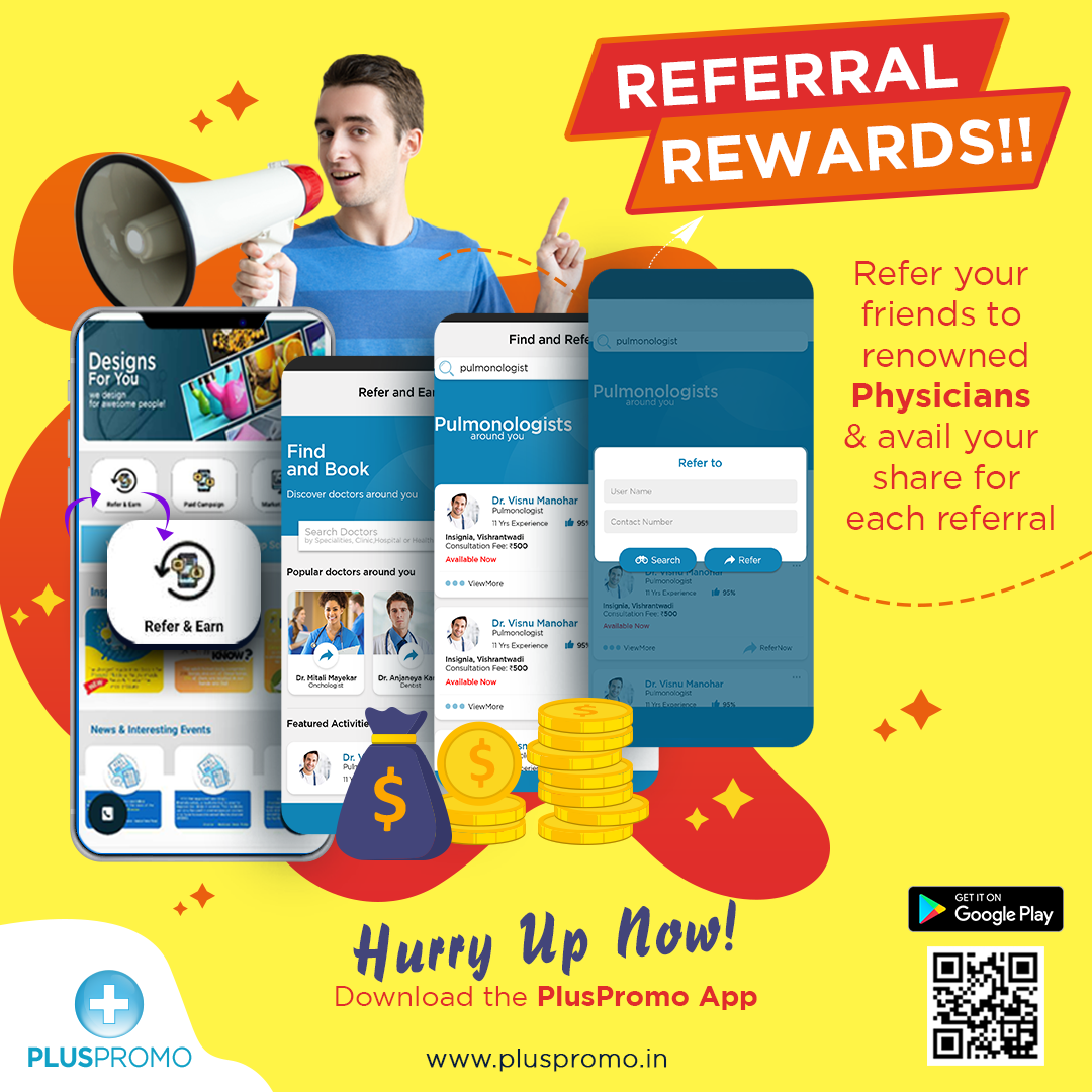 Earn referral bonus with PlusPromo App. Refer your friends
