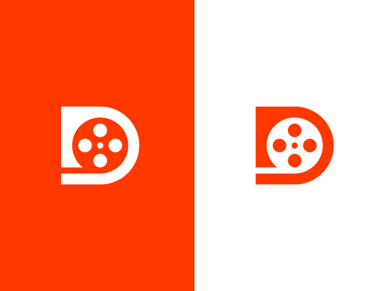 D Film Logo Design Film Logo Single Letter Logo Design Single Letter Logo
