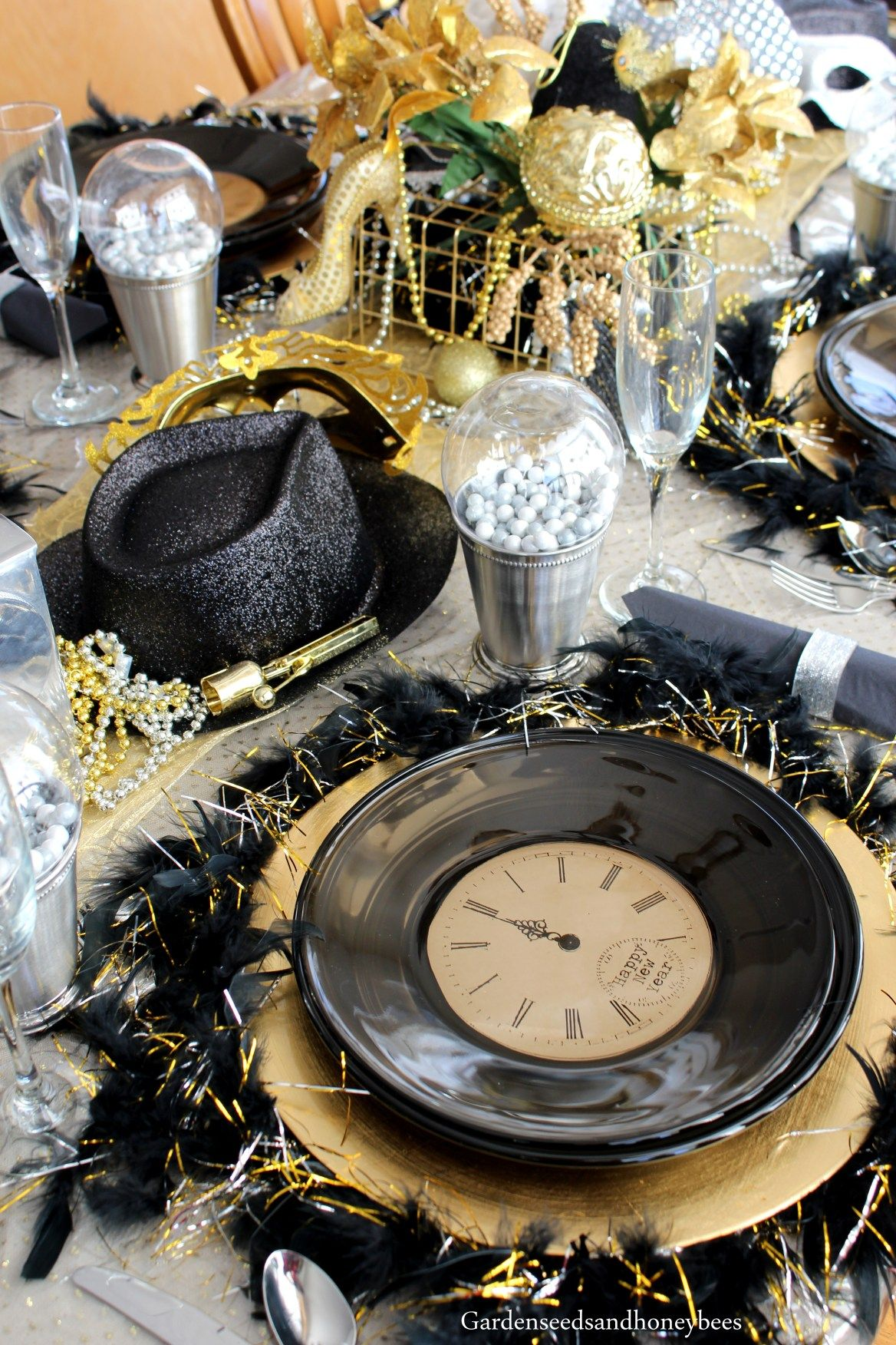 Gold New Years Eve Party - Garden Seeds and Honey Bees ...