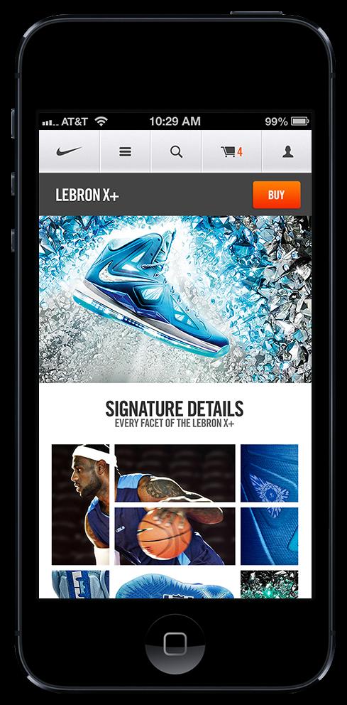 Nike.com Mobile by Erik Herrström, via Behance