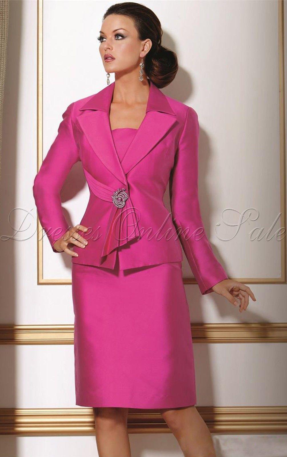 AU$117 - Hot Sheath Knee-length Square Fuchsia Satin Dress ...