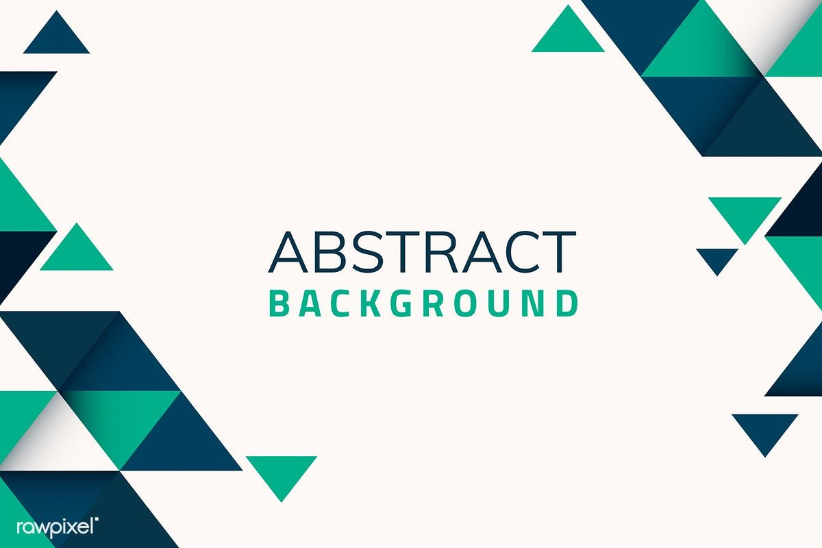 Abstract Blue And Green Geometric Background Vector Free Image