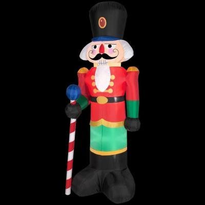 Gemmy Industries Airblown Nutcracker Christmas Decoration - inflatable christmas yard decorations
