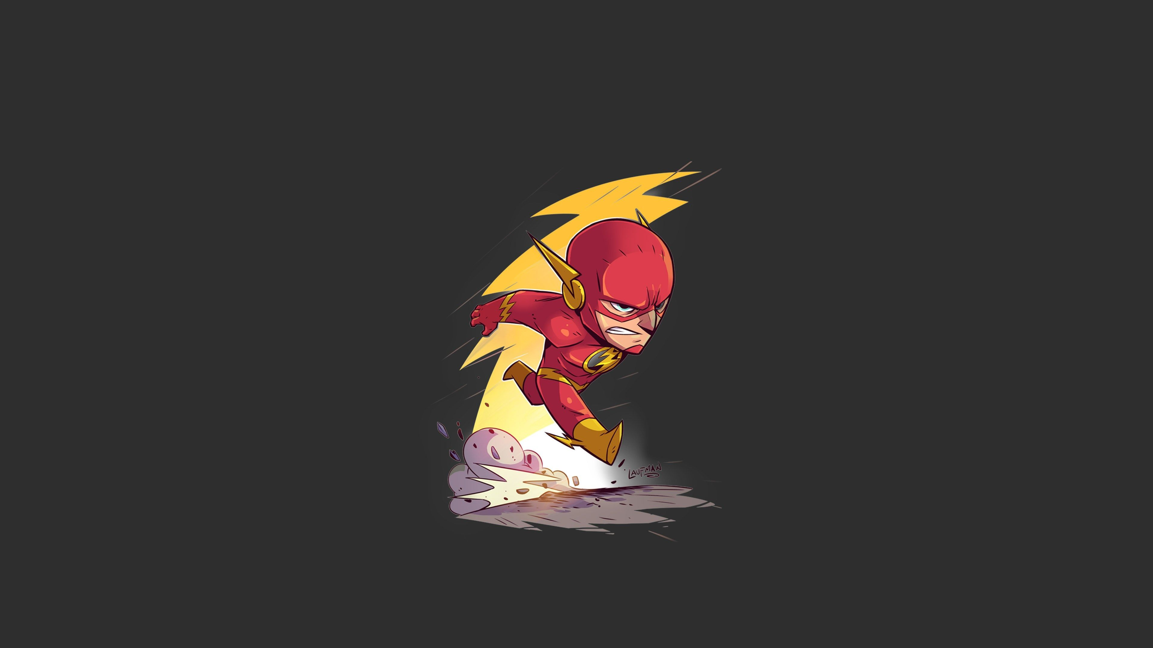 3840x2160 Flash 4k Wallpaper For Mac Computers The Flash Cartoon Flash Wallpaper Chibi