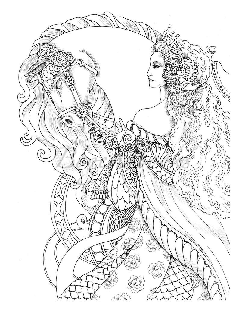 Vintage Classic Coloring Pages Ii Relaxing Coloring Pages Etsy Mermaid Coloring Pages Coloring Pages For Grown Ups Horse Coloring Pages [ 1028 x 794 Pixel ]