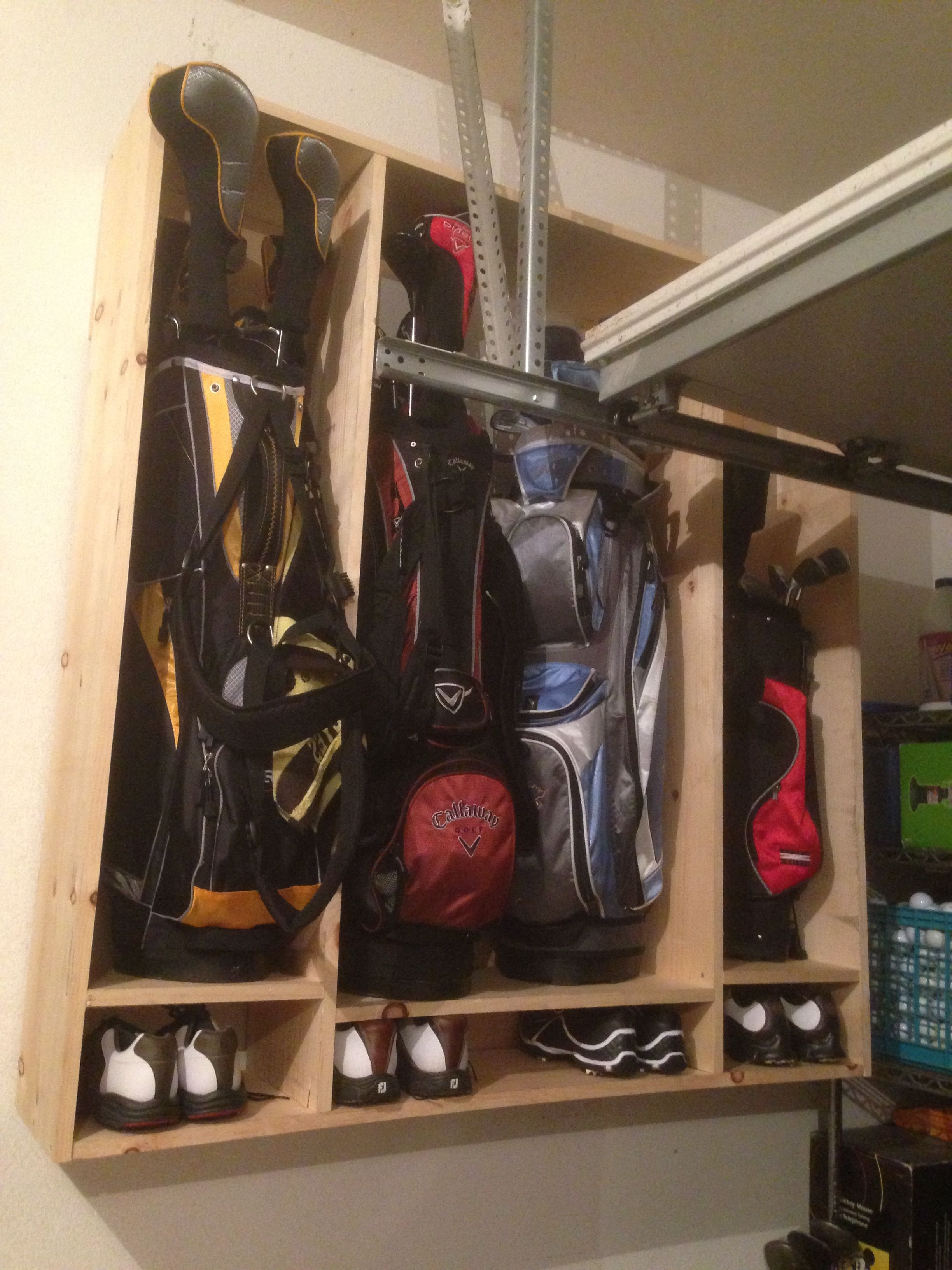golf club and shoe locker couple hours to make for around on cool diy garage organization ideas 7 measure guide on garage organization id=87473