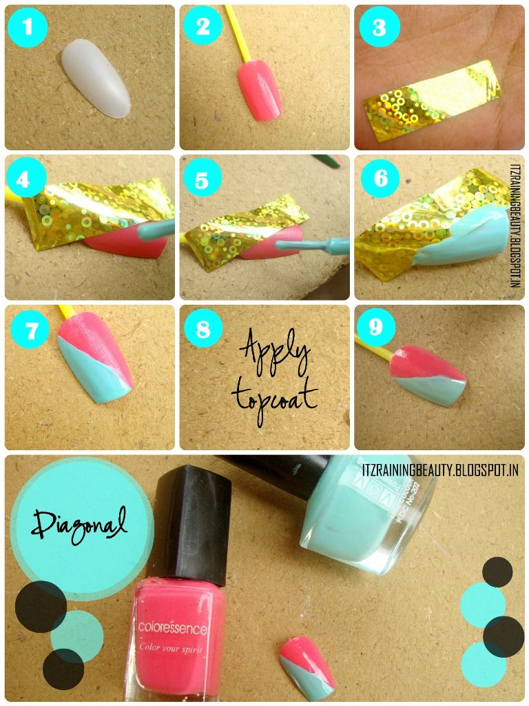 simple nail designs step by step with tape wwwimgkid