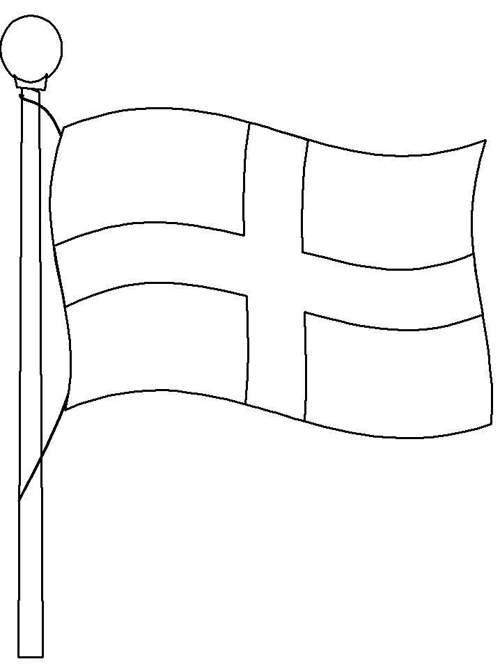 Flag Of England Coloring Page For Kindergarten Tekemista