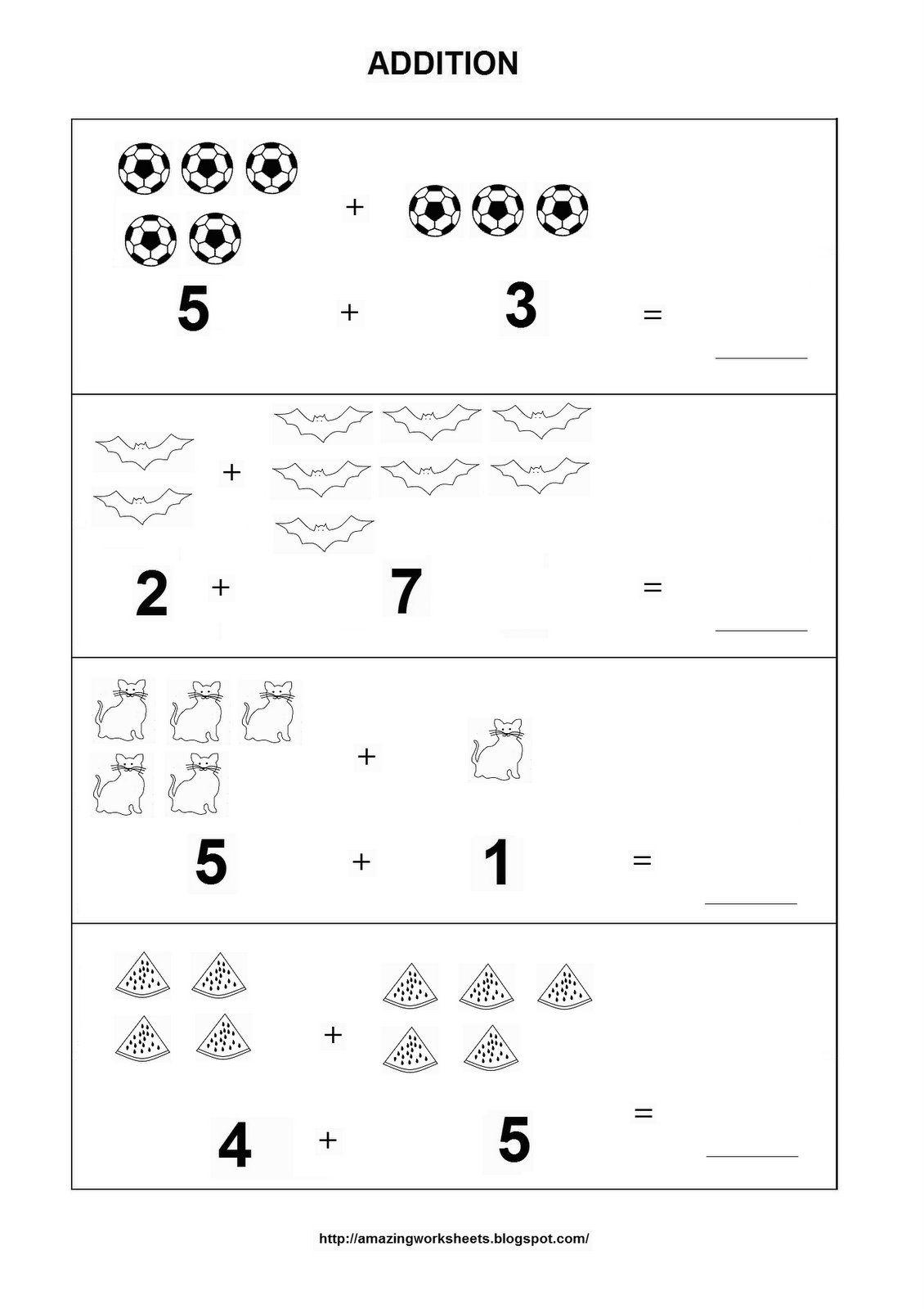 Addition Worksheet Kindergarten Math Worksheets Free Basic Math Worksheets Printable Math Worksheets