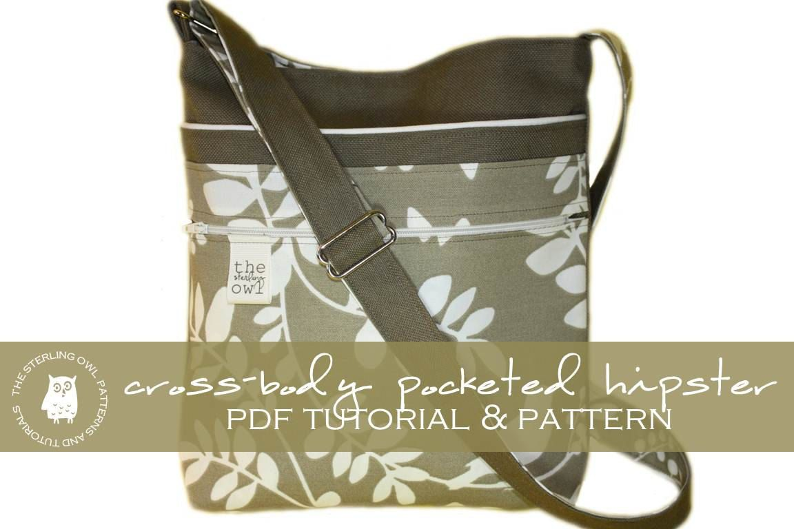Cross body pocketed hipster pdf tutorial pattern purse cross body steckte hipster pdf tutorial von thesterlingowl cross body purse patterns jeuxipadfo Image collections